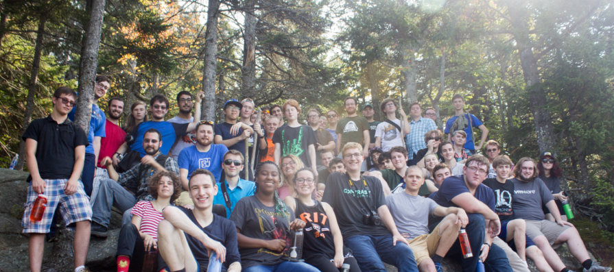 A group of CSHers at our annual camping trip