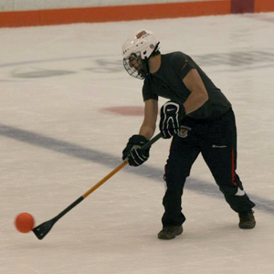 A CSHer playing intramural Broomball